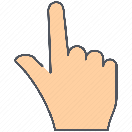 fingers, gesture, hand, language, point, pointer, sign icon