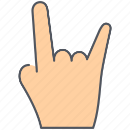 fingers, gesture, hand, language, rock and roll, rock on, sign icon