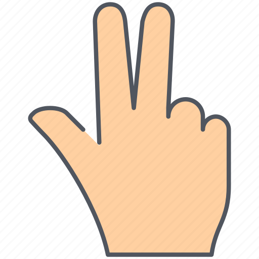 fingers, gesture, hand, language, sign, three, victory icon