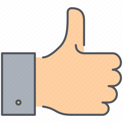 approval, gesture, good job, hand, thumb, thumb up, well done icon