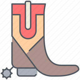 boot, cowboy, footwear, horse, ride, texas, wild west icon