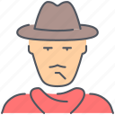 cowboy, hat, killer, man, person, texas, wild west icon