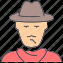 texas, wild west, cowboy, hat, killer, man, person