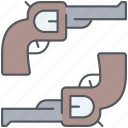 duel, combat, cowboy, texas, wild west, kill, weapons icon