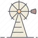 mill, cowboy, texas, wild west, energy, manifacture, windmill icon