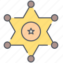 badge, sheriff, cowboy, texas, wild west, police, star