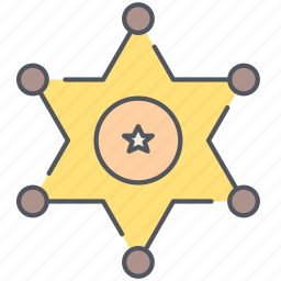 badge, cowboy, police, sheriff, star, texas, wild west icon