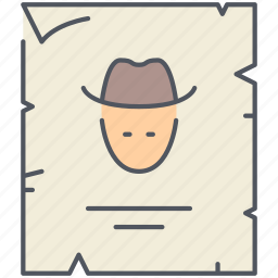 cowboy, killer, prison, steal, texas, wanted, wild west icon