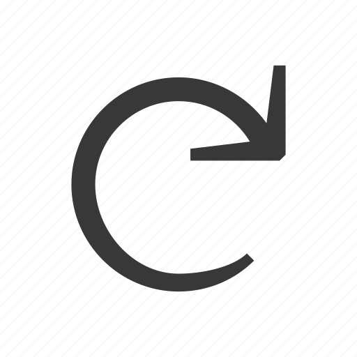 arrow, direction, pointer, refresh, rotated, undo icon