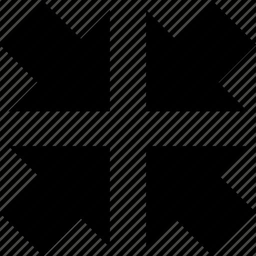 basic, center, collapse, meeting point, reduce, shrink, singular, singularity, toggle icon