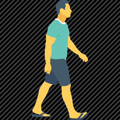 jogging, man, pedestrian, runner, walking icon