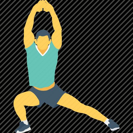 exercise stretching, gym, leg stretch, warm up, yoga icon
