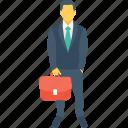 businessman, boss, tourist, business person, briefcase
