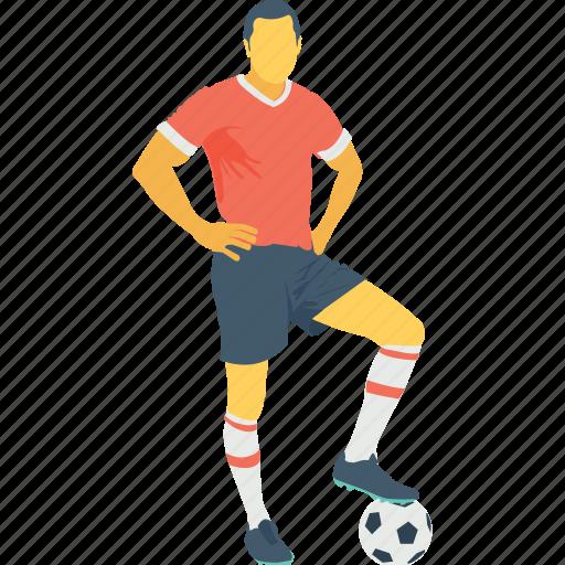 football player, footballer, player, sportsman, sportsperson icon