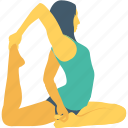 exercise, split leap, stretching, warm up, yoga icon