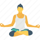 fat burn, lotus pose, mediation, meditate sitting, yoga icon