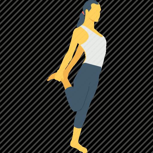 exercise, knee, knee stretching, quadriceps, stretching knee icon