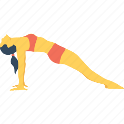 exercise, plank, pull back, reverse, reverse plank icon