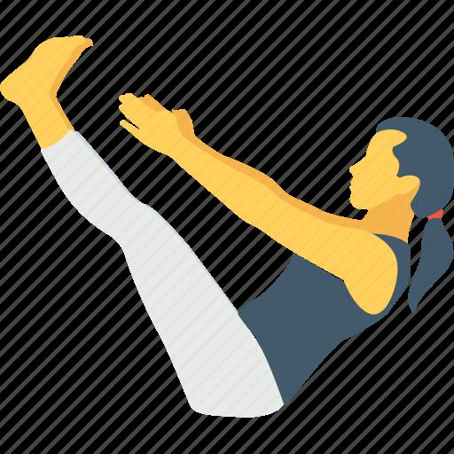 exercise, fish pose, sarvangasana, uttanpadasana, yoga icon