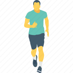 man, racer, runner, sportsman, walking icon