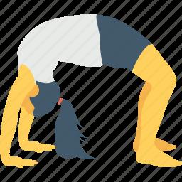 ana, conscious, gymnastics, meditation, wheel pose icon