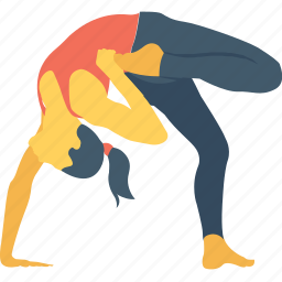 backbending, exercise, half moon pose, strength, yoga icon