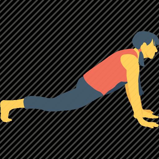arm balance, balance, core, crow pose, plank pose icon