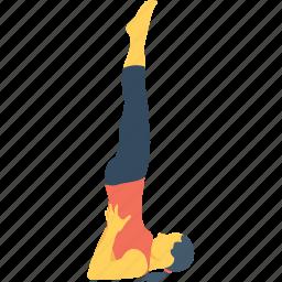 acrobat, female, headstand, pose, yoga icon