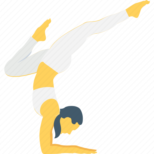 adho, asana, body, dog split, downward facing icon