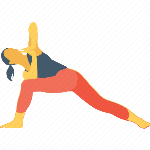 drop down, fitness, gym, stretching, warm up icon