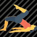 adho, asana, body, dog split, downward facing icon