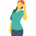 female, player, player avatar, sport girl, sportswomen icon