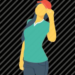 female, player, player avatar, sport girl, sportswomen icon