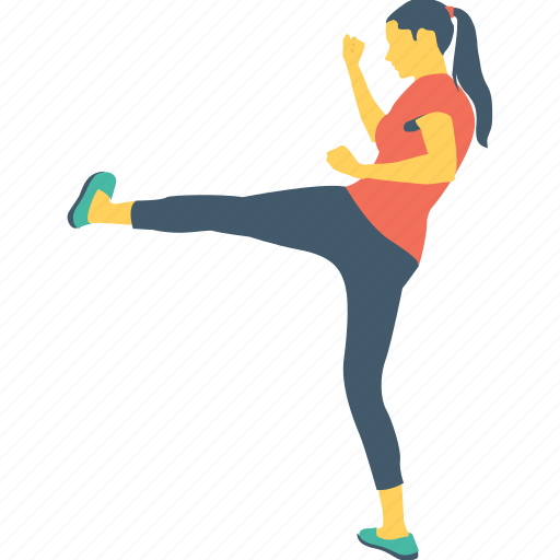 gym, hitting, kick, training, workout icon