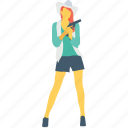 female, girl, gun, pistol, spy icon