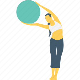 activity, cheerful, exercise, fitness, lifting icon