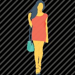 female, girl, handbag, shopping, woman icon