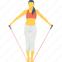 female, jumping, rope, rope jump, skipping icon