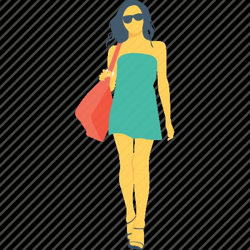 avatar, female, girl, model, woman icon