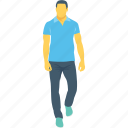jogging, man, pedestrian, runner, walking icon