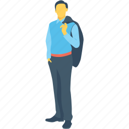 assistance, businessman, employee, handsome, management icon