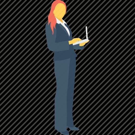 assistant, female, lady, secretary, woman icon