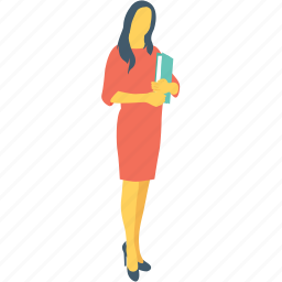 assistant, employee, female, personal assistant, secretary icon