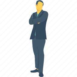 assistance, businessman, employee, file, handsome icon