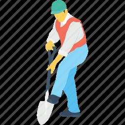 builder, construction, labour, occupation, worker icon