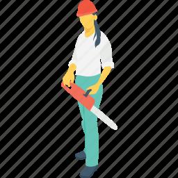 cutter, female worker, steel fixer, tool, woman icon