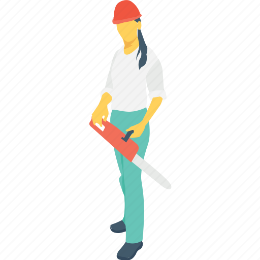 cutter, female worker, steel fixer, tool, woman icon