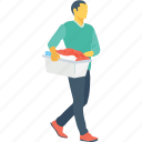 courier, delivery boy, delivery service, logistics, package icon
