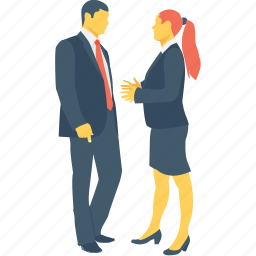 co worker, communication, corporate persons, discuss, together icon