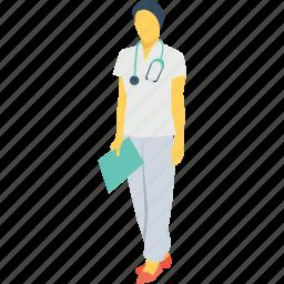 doctor, hospital, lady doctor, medical, nurse icon